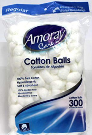 Amoray Cotton Balls 300 Cnt